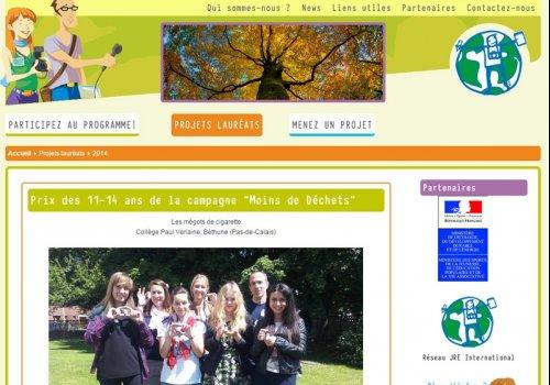Jeunes Reporters pour l'Environnement…