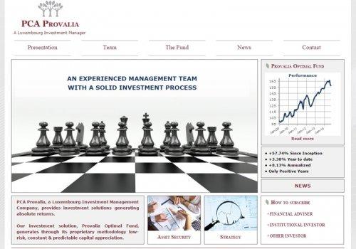 PCA Provalia - Site dédié au fond d'investissement…
