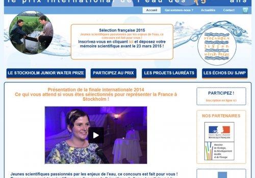 Stockholm Junior Water Prize - Le prix international…