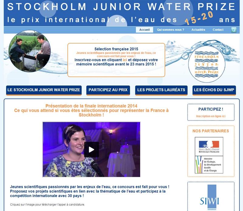 stockholm junior water prize le prix international de l 39 eau des 15 20 ans cr ation de sites. Black Bedroom Furniture Sets. Home Design Ideas